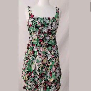 Moulinette Soeurs Anthropologie Floral Dress Sz 2